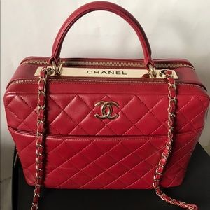 Chanel bowling large bag with top handle